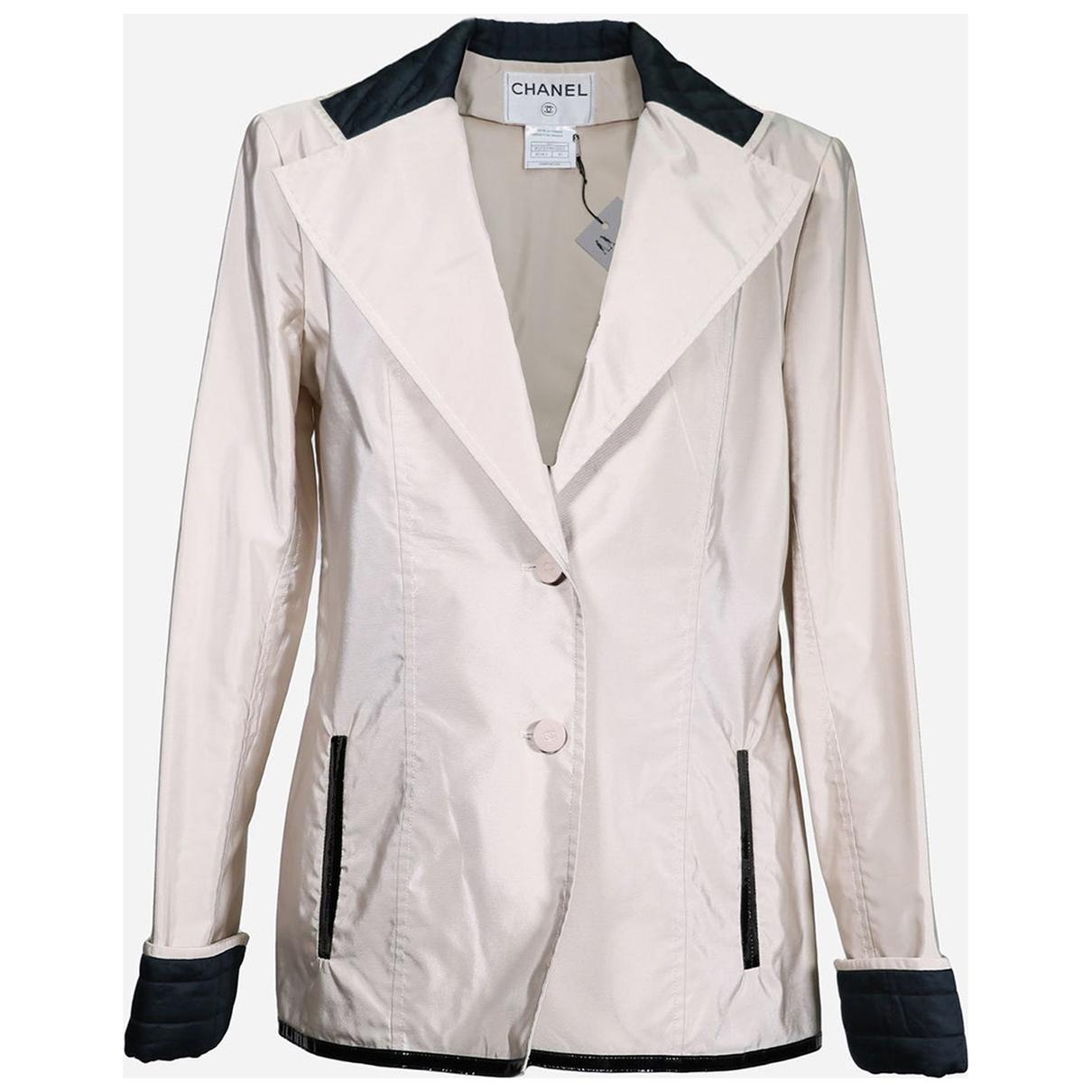 Chanel - Trench   pour femme en coton - beige