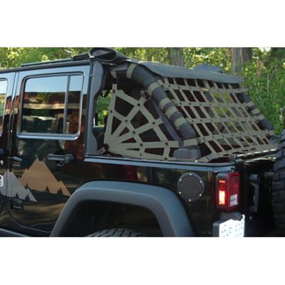 DirtyDog 4x4 Rear Upper Cargo Netting with Spider Sides, Olive Drab - D/DJ4NN07RSOD
