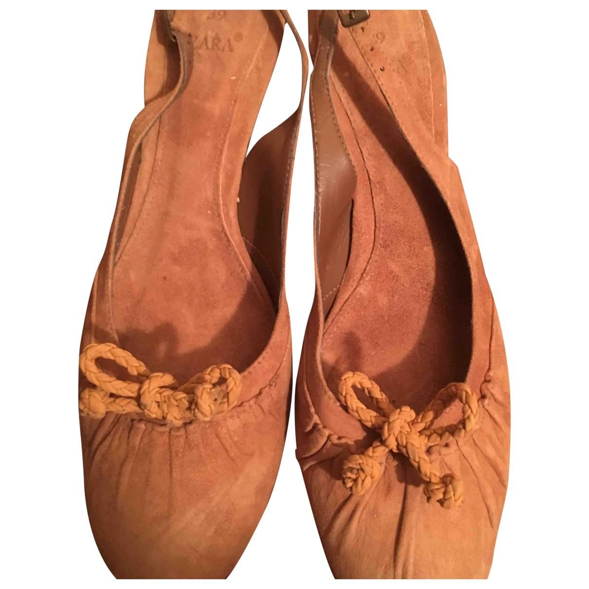 Zara \N Beige Suede Sandals for Women 39 EU