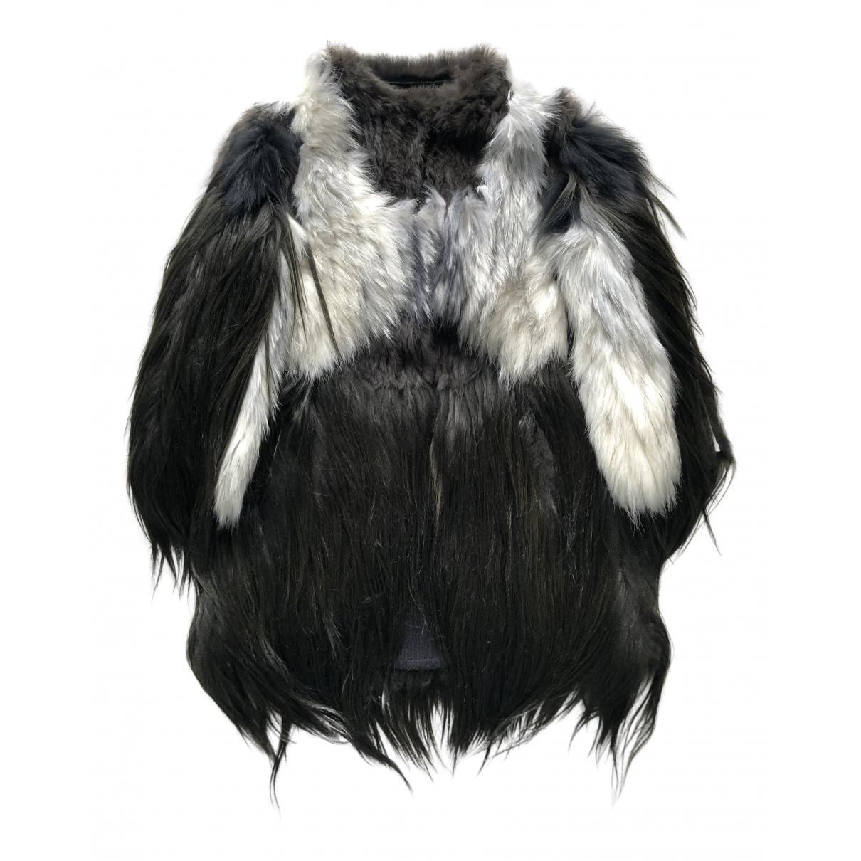 Rizal - Manteau   pour femme en agneau de mongolie - noir