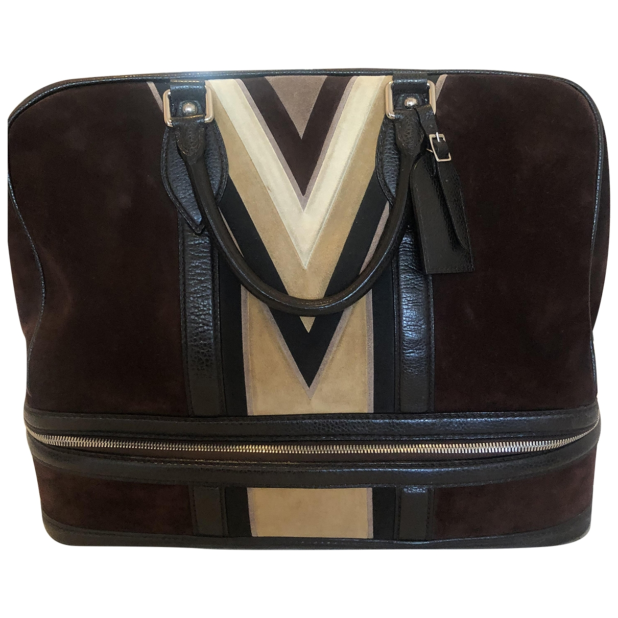 Louis Vuitton \N Brown Suede bag for Men \N
