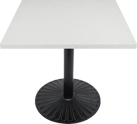 Q403 30X30-Z14-22H 30x30 Snow White Quartz Tabletop with 22