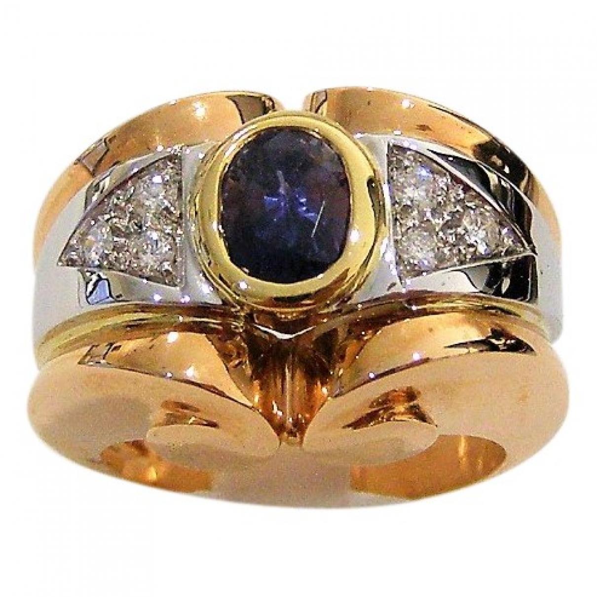 - Bague Art Deco pour femme en or rose - blanc