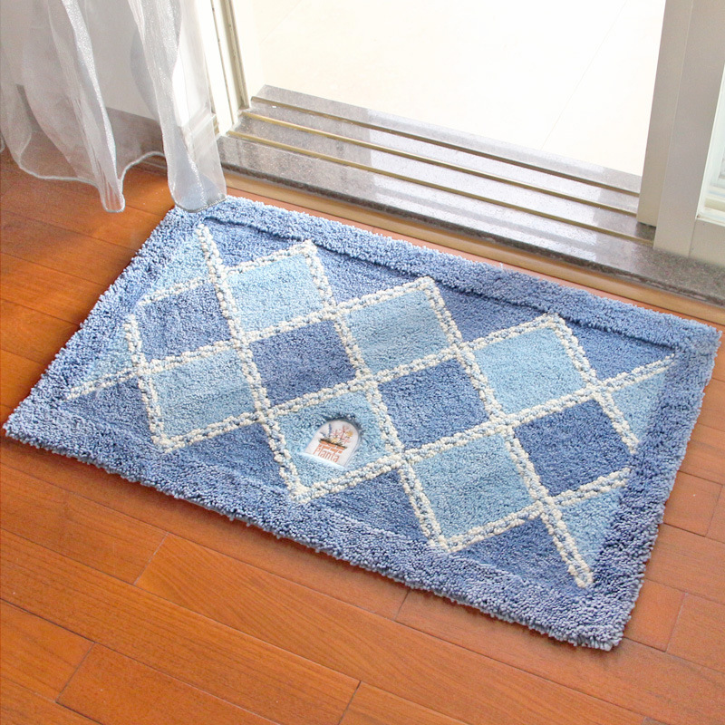 Simple Style Anti-Slip Water Absorption Rectangle Polyester Area Rug