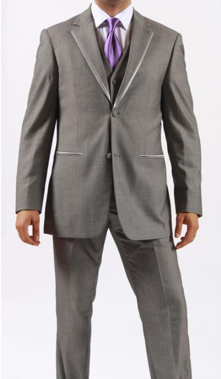 Two Button Grey Manhattan Tuxedo