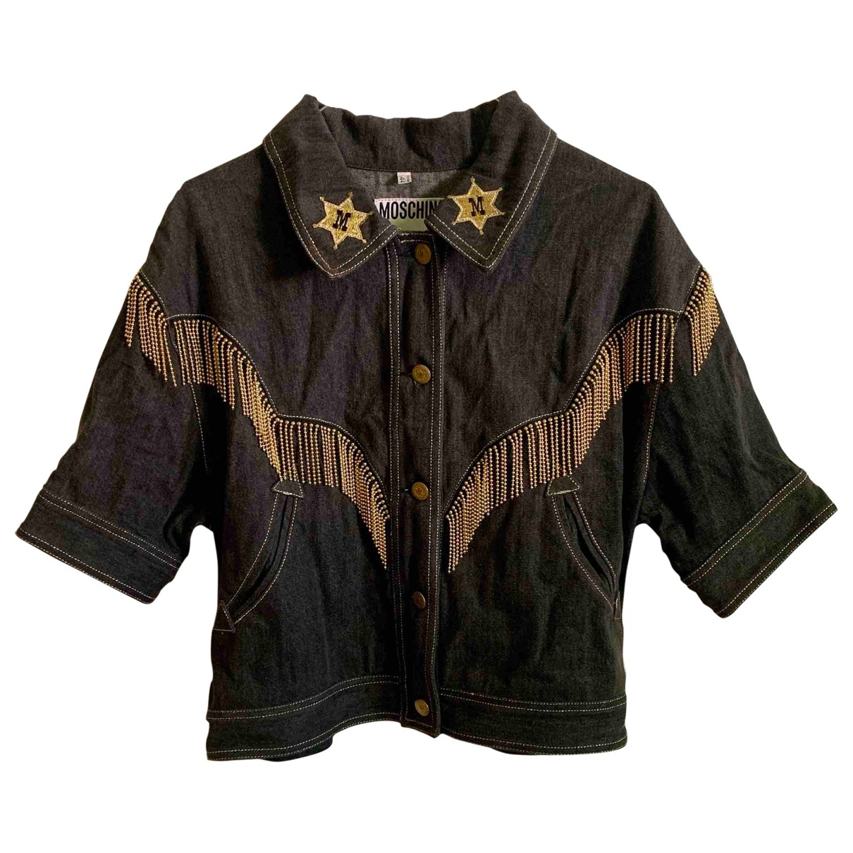 Moschino Cheap And Chic \N Black Denim - Jeans jacket for Women 44 IT
