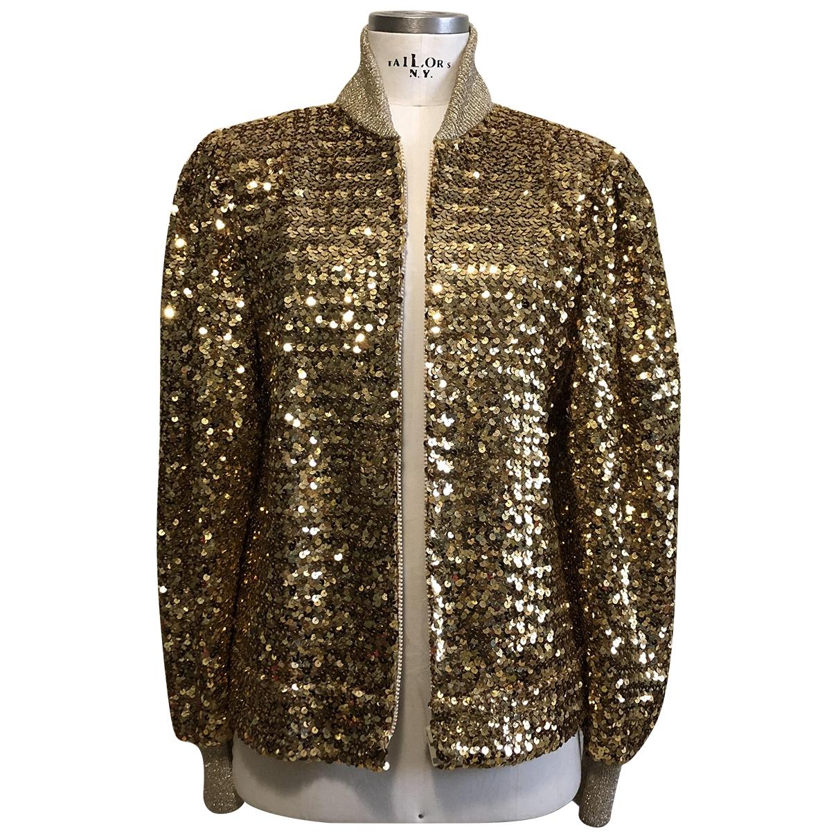 Non Signe / Unsigned \N Jacke in  Gold Mit Pailletten