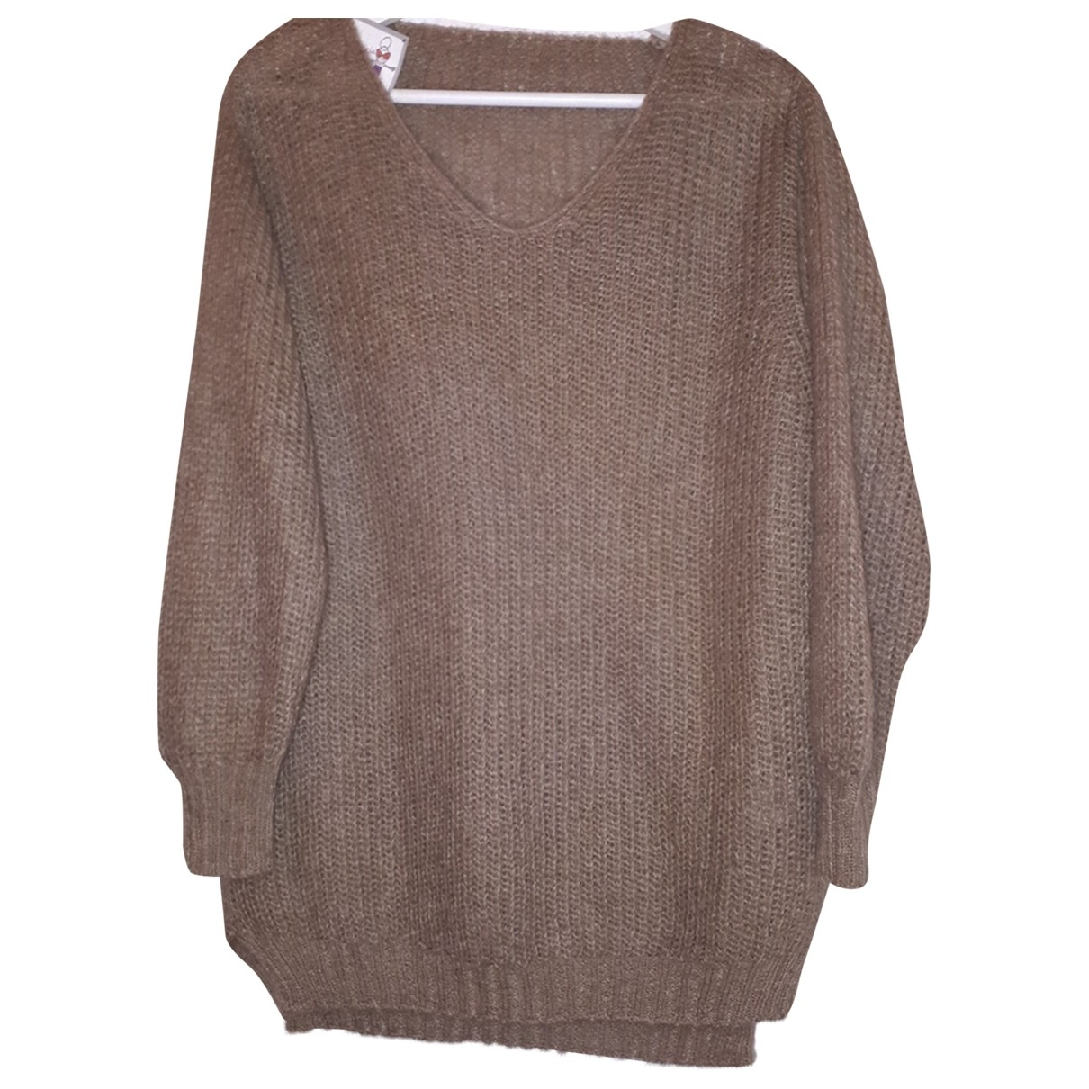 Non Signé / Unsigned \N Camel Wool Knitwear for Women One Size International