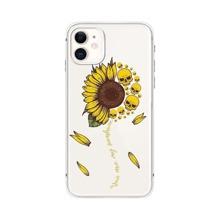 iPhone Schutzhuelle mit Sonnenblumen & Schaedel Muster