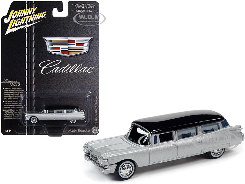 1959 Cadillac Hearse Silver with Black Top