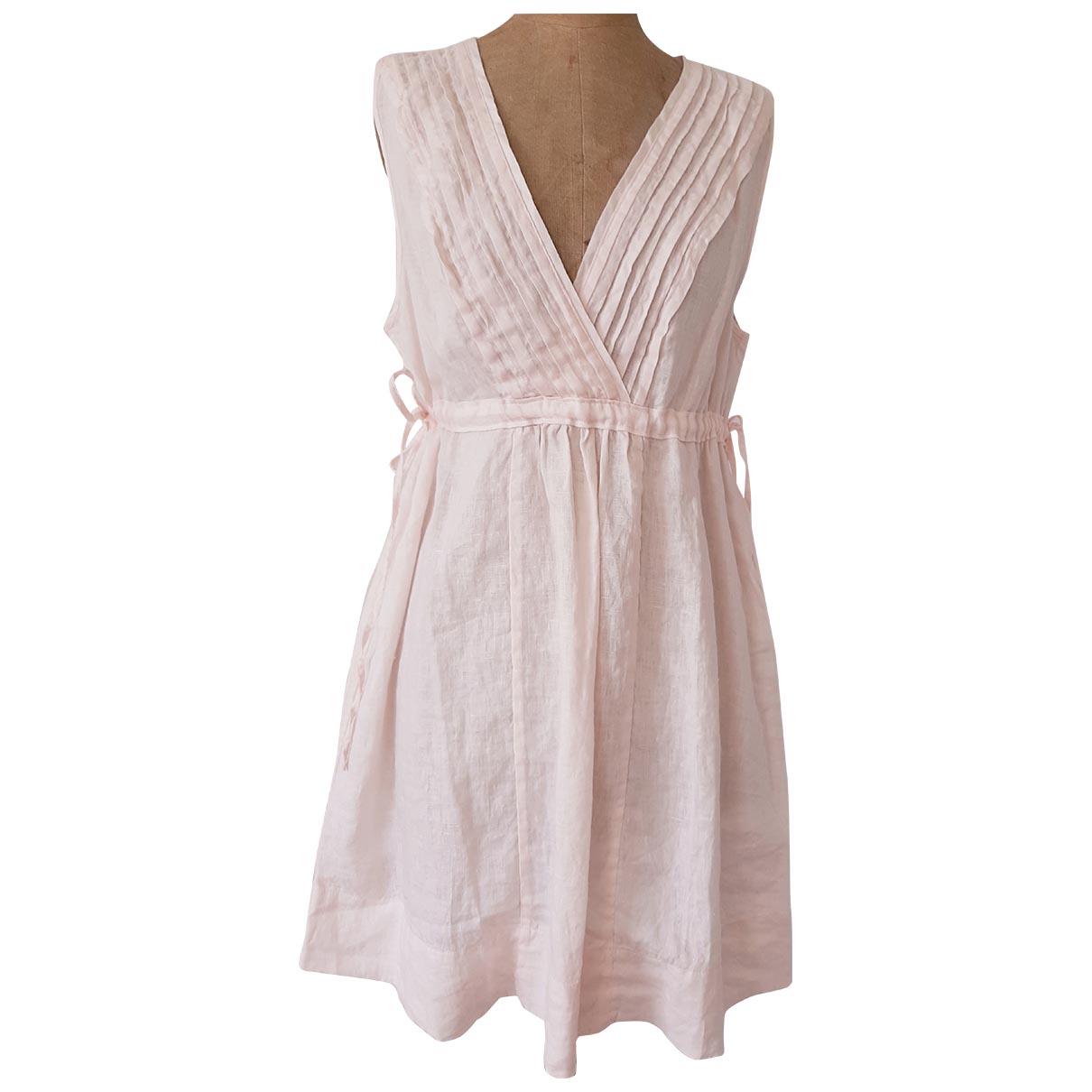 Calypso St Barth \N Kleid in  Rosa Leinen