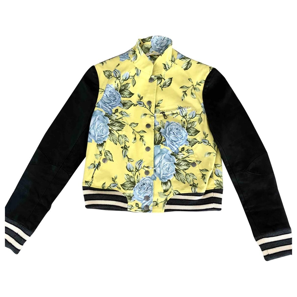 Rag & Bone \N Yellow Leather jacket for Women 2 US