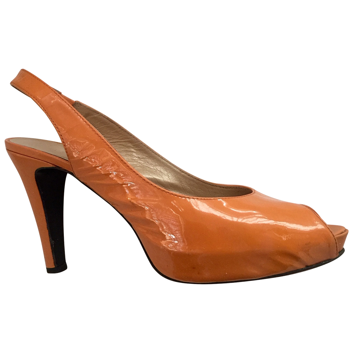 Russell & Bromley \N Pumps in  Orange Lackleder