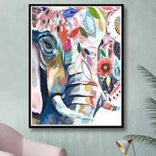 Pintura de diamante con patron de elefante sin marco