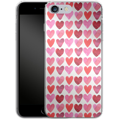 Apple iPhone 6 Plus Silikon Handyhuelle - Heart Watercolour von Amy Sia