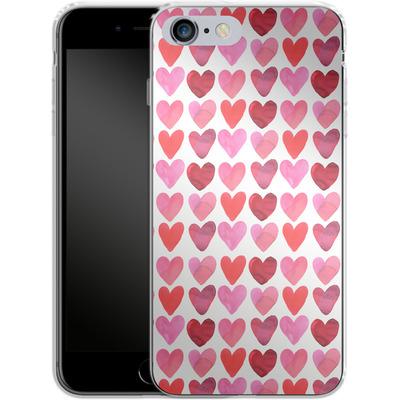 Apple iPhone 6 Plus Silikon Handyhuelle - Heart Watercolour von Amy Sia