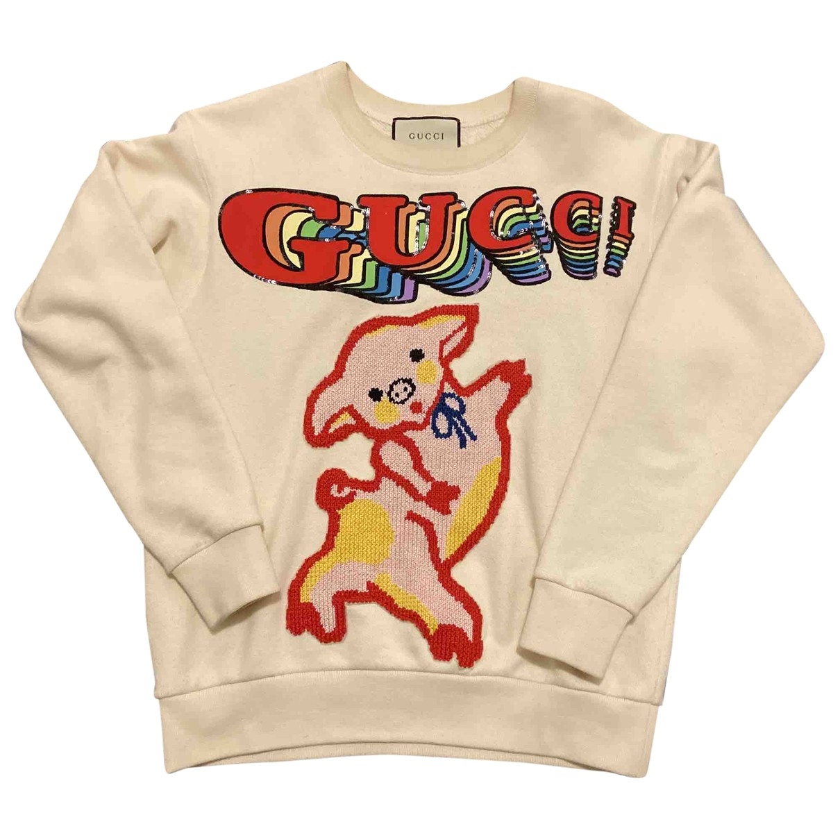 Gucci \N Pullover in  Weiss Baumwolle