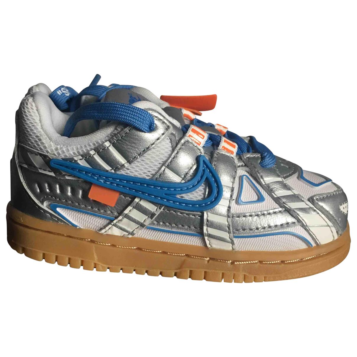 Nike X Off-white - Baskets   pour enfant en cuir - argente