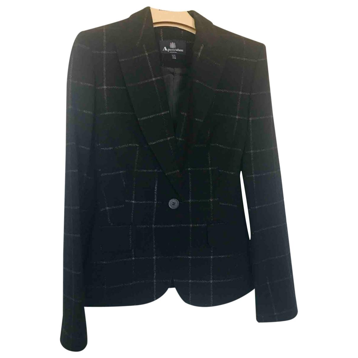 Aquascutum \N Black Wool jacket for Women 6 UK