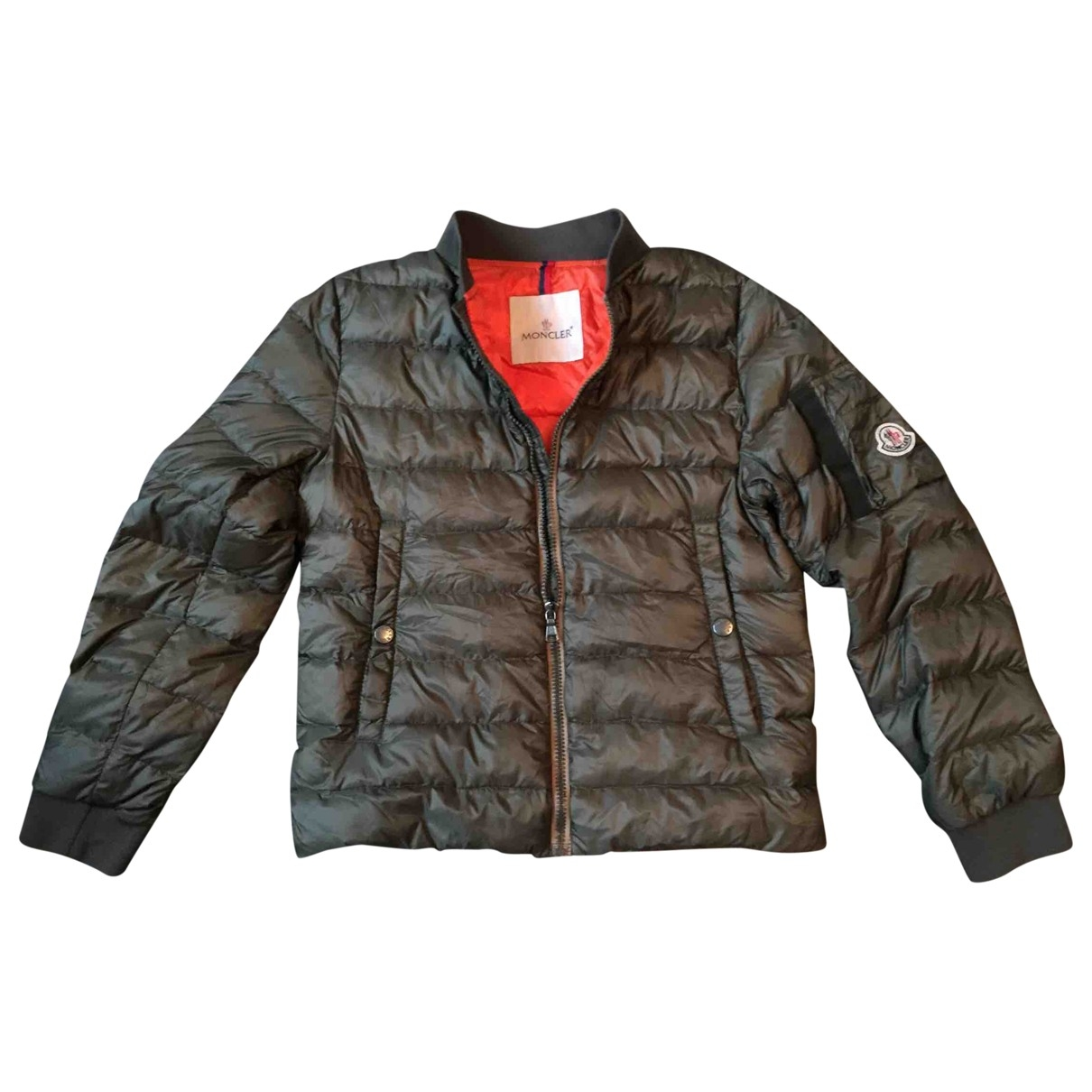 Moncler Classic Jacke, Maentel in  Khaki Polyester