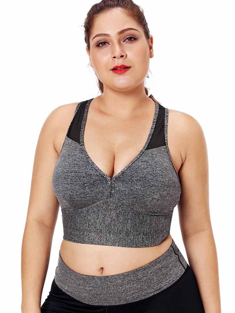 Ericdress Women Plus Size Color Block Print Sleeveless Tops