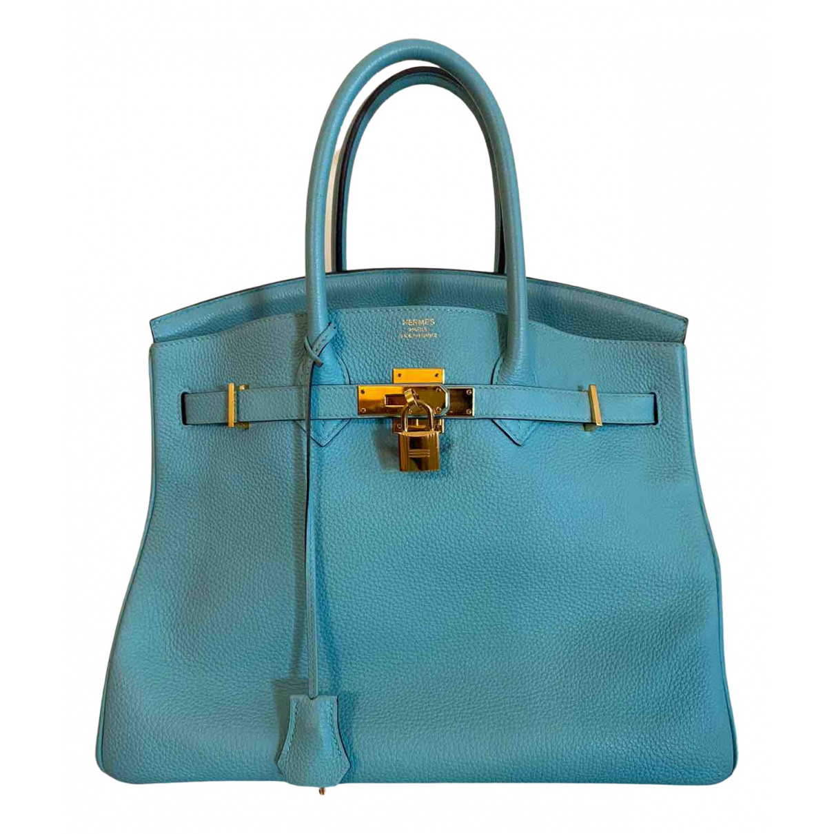 Hermès Birkin 35 Turquoise Leather handbag for Women N