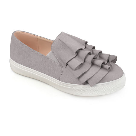 Journee Collection Womens Glint Slip-On Shoe, 10 Medium, Gray