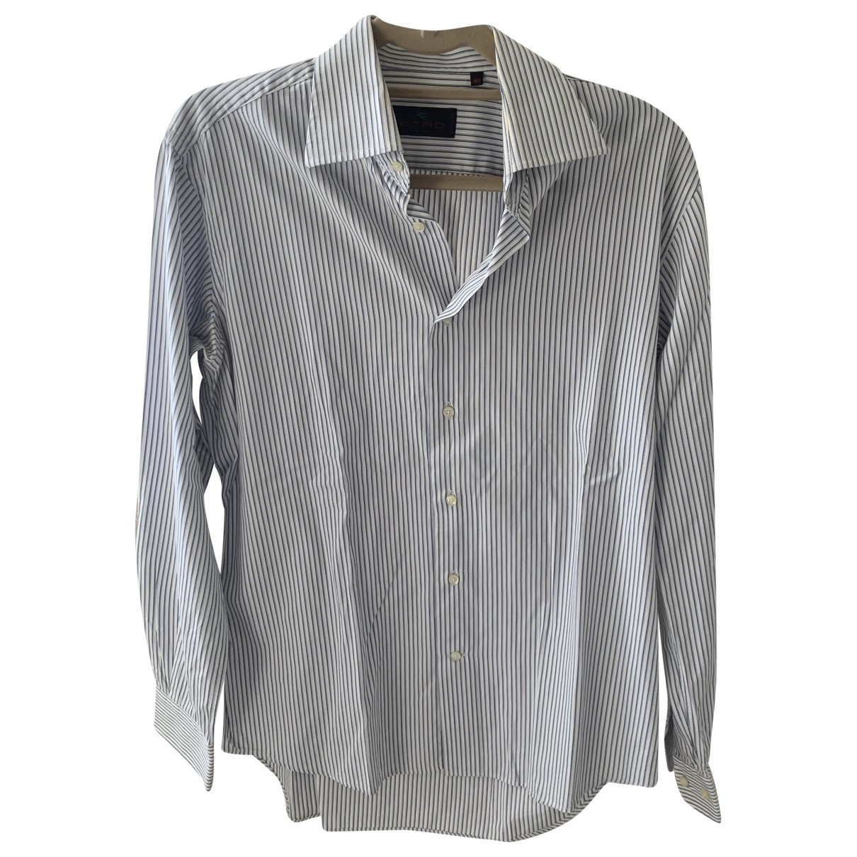 Etro \N Blue Cotton Shirts for Men 40 EU (tour de cou / collar)
