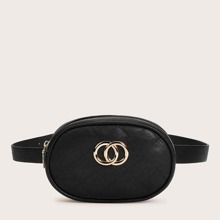 Twist Ring Decor Quilted Fanny Pack