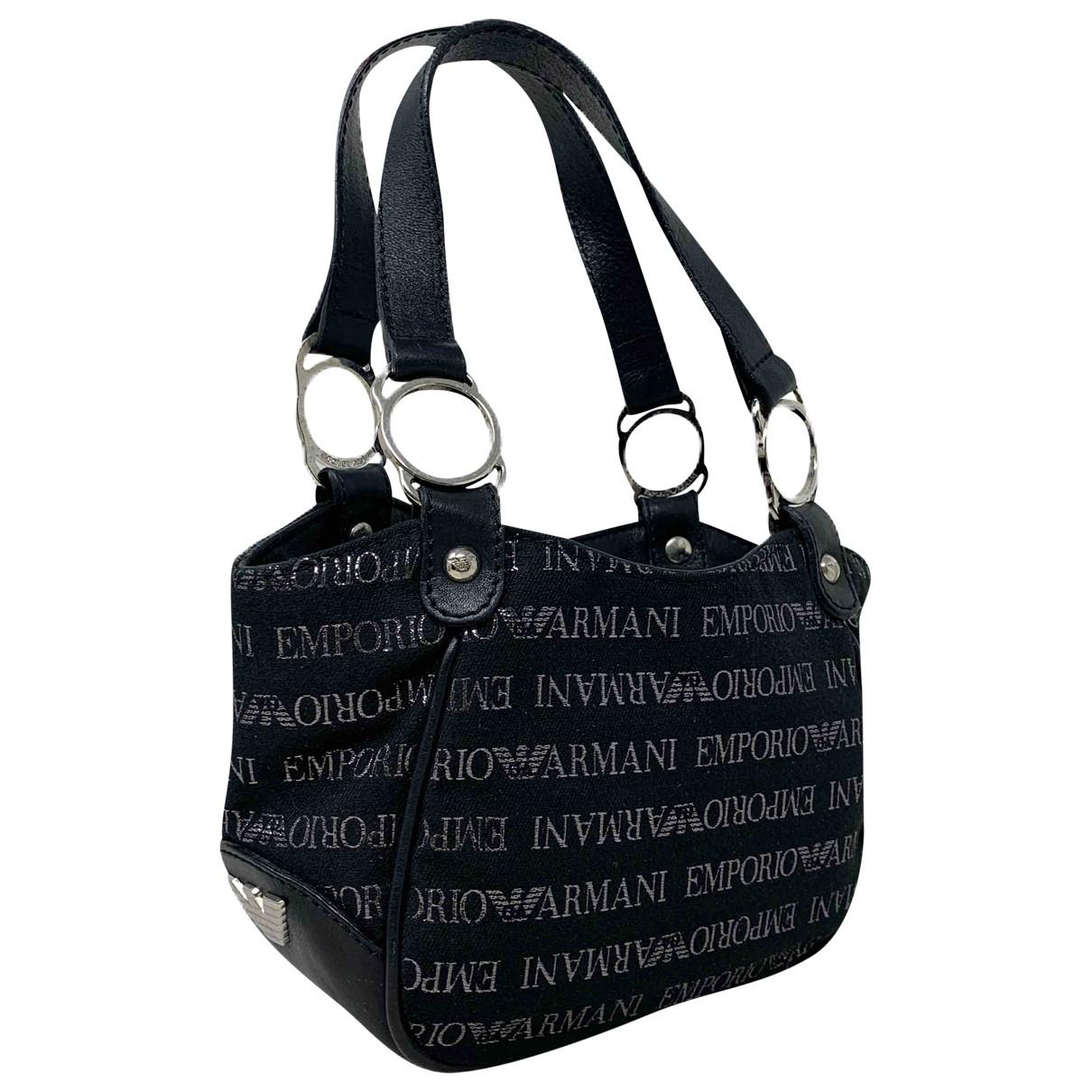 Emporio Armani \N Black Cloth handbag for Women \N