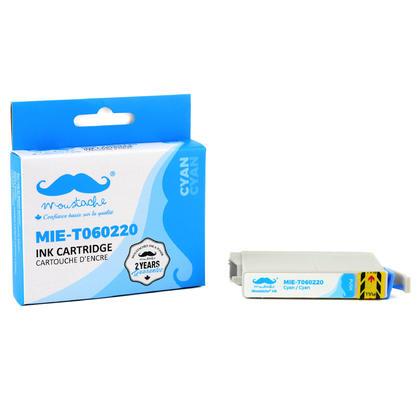 Epson 60 T060220 cartouche d'encre compatible cyan - Moustache®