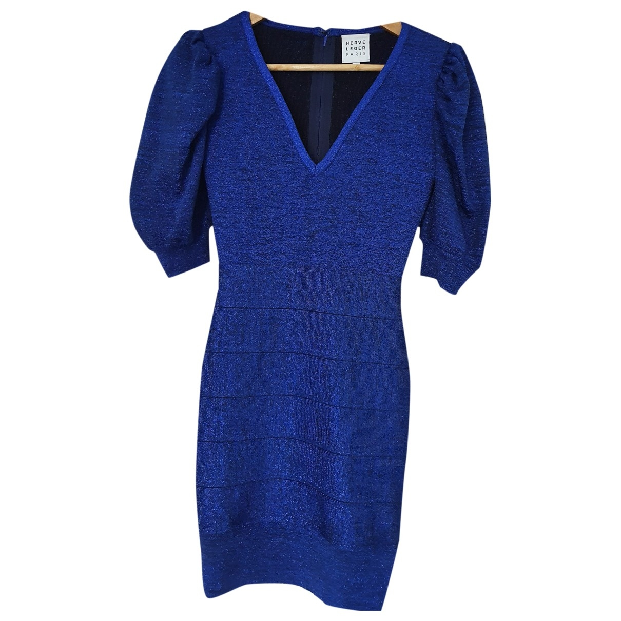 Herve Leger - Robe   pour femme en a paillettes - bleu