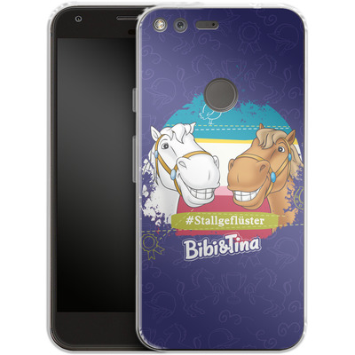 Google Pixel Silikon Handyhuelle - Bibi und Tina Stallgefluester von Bibi & Tina