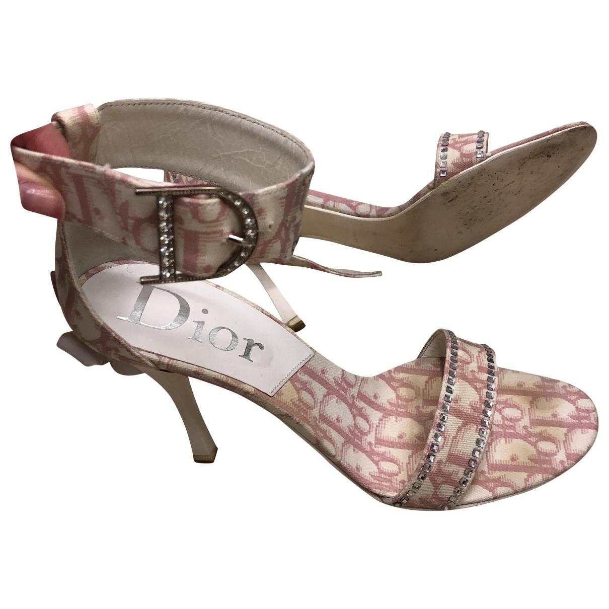 Dior \N Pink Cloth Sandals for Women 38 EU