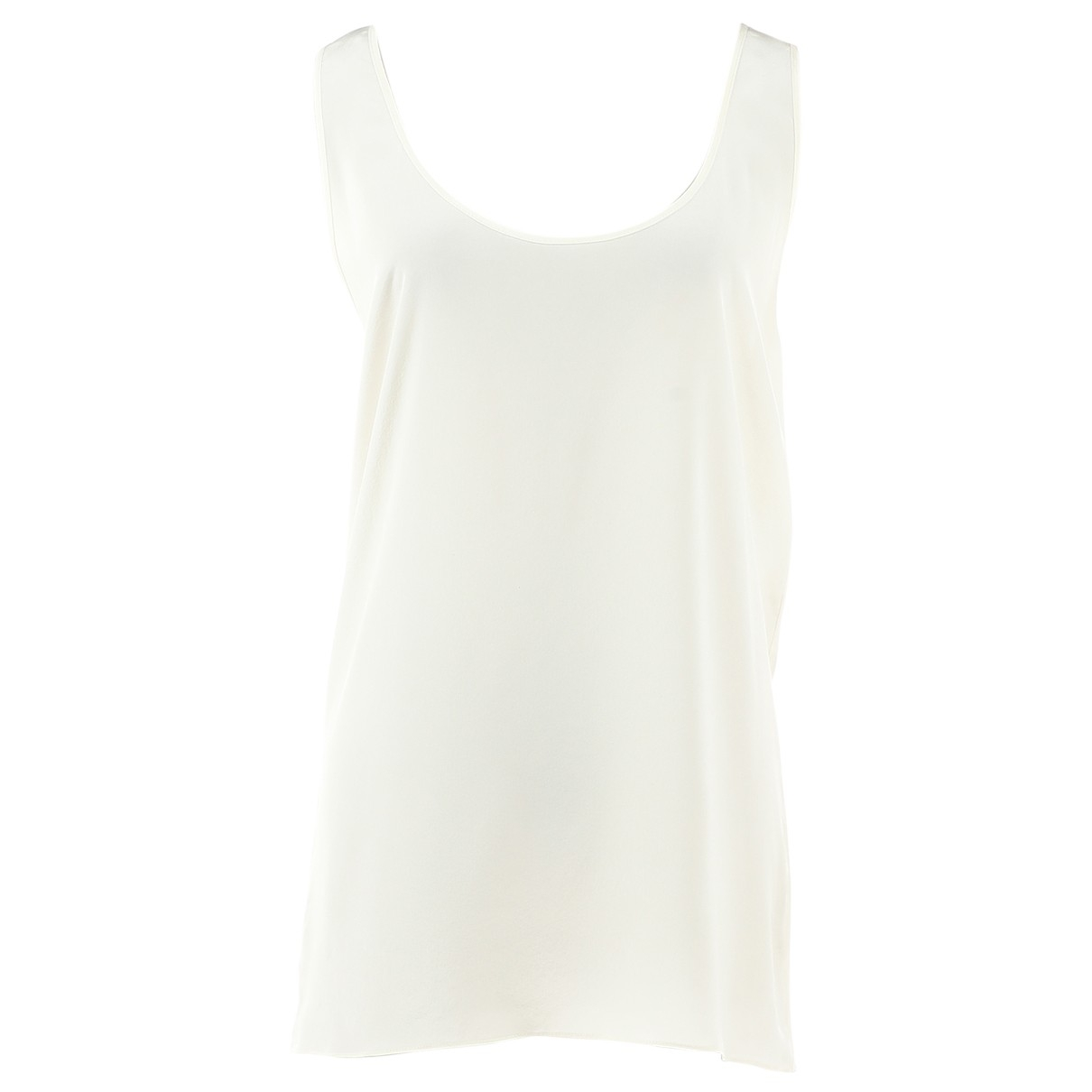 Dior \N White Silk  top for Women 36 FR