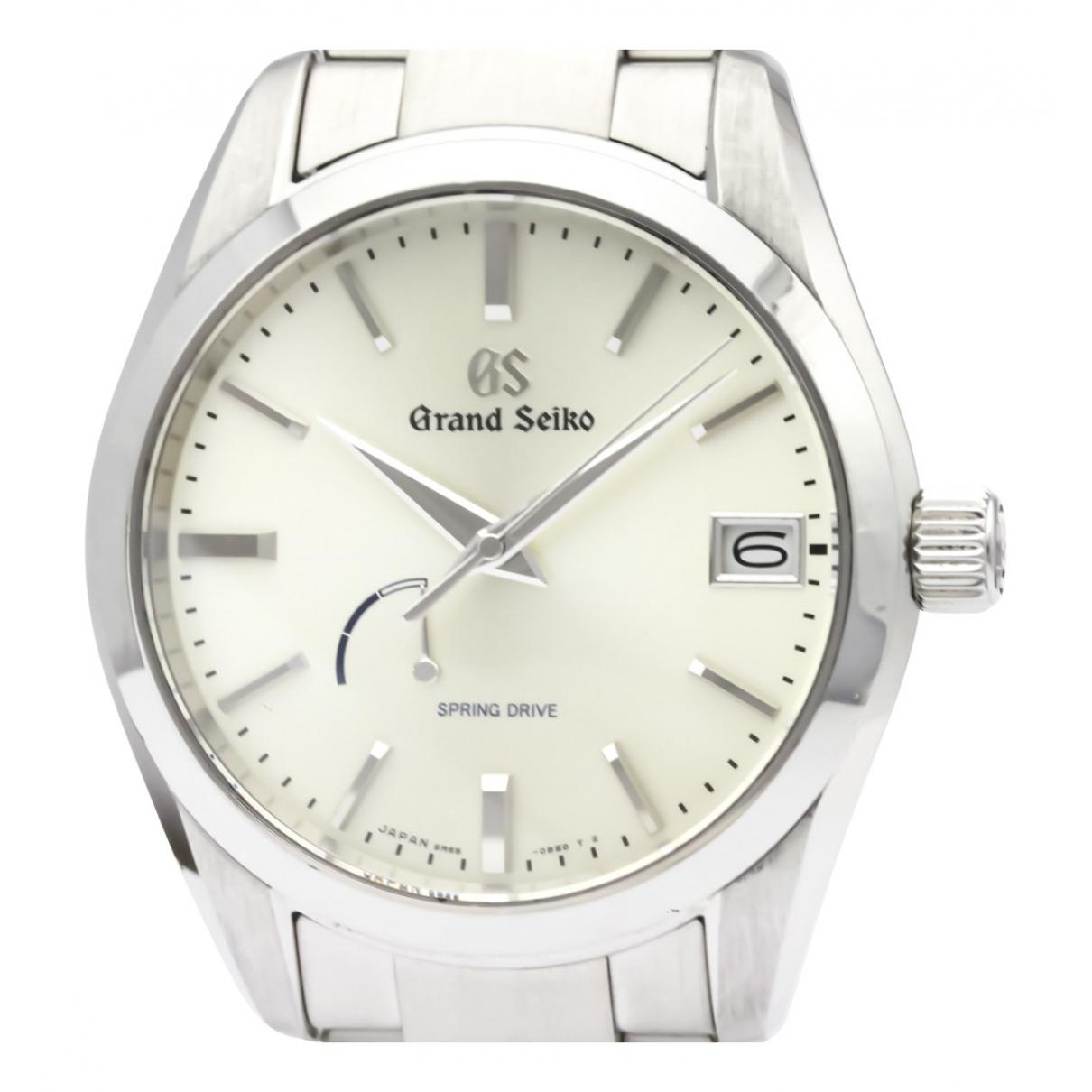 Grand Seiko \N Uhr in  Silber Stahl