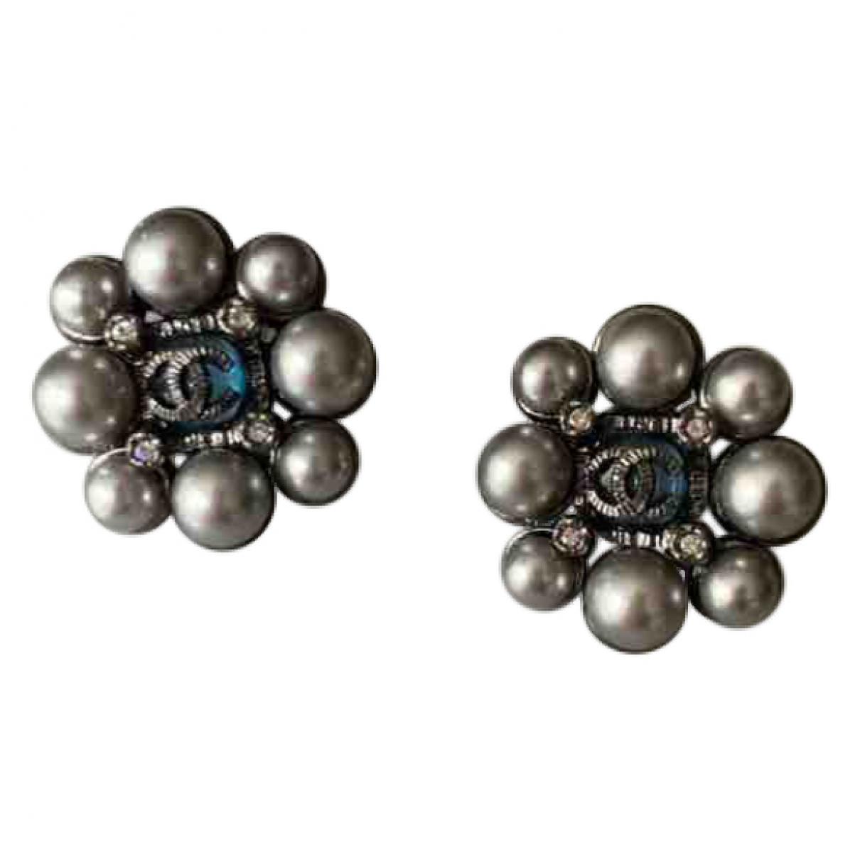 Chanel \N OhrRing in  Blau Perlen