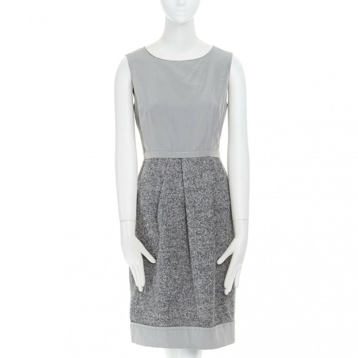 Max Mara \N Grey Wool dress for Women 8 US