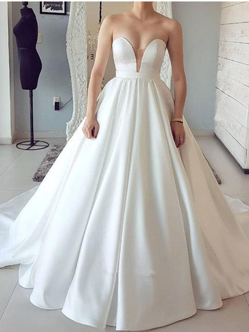 Ericdress Simple Sweetheart A-Line Wedding Dress