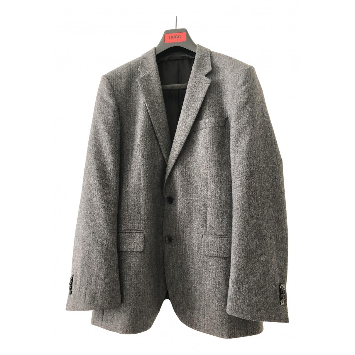 Hugo Boss - Vestes.Blousons   pour homme en laine - gris