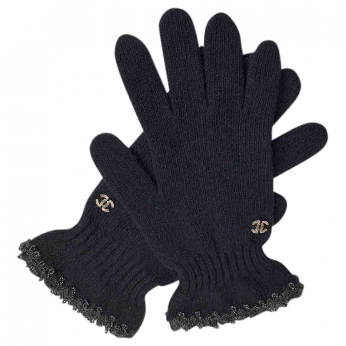 Chanel \N Black Wool Gloves for Women M International