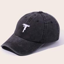 Guys Gun Embroidery Baseball Cap