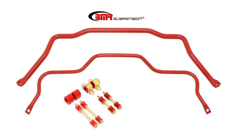 BMR Suspension SB027R Sway Bar Kit With Bushings Front SB002 And Rear SB003 Red Chevrolet Camaro | Pontiac Firebird 82-92