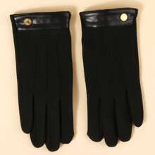 Handschuhe mit metallischem Dekor