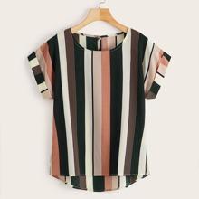 Camisa irregular de rayas