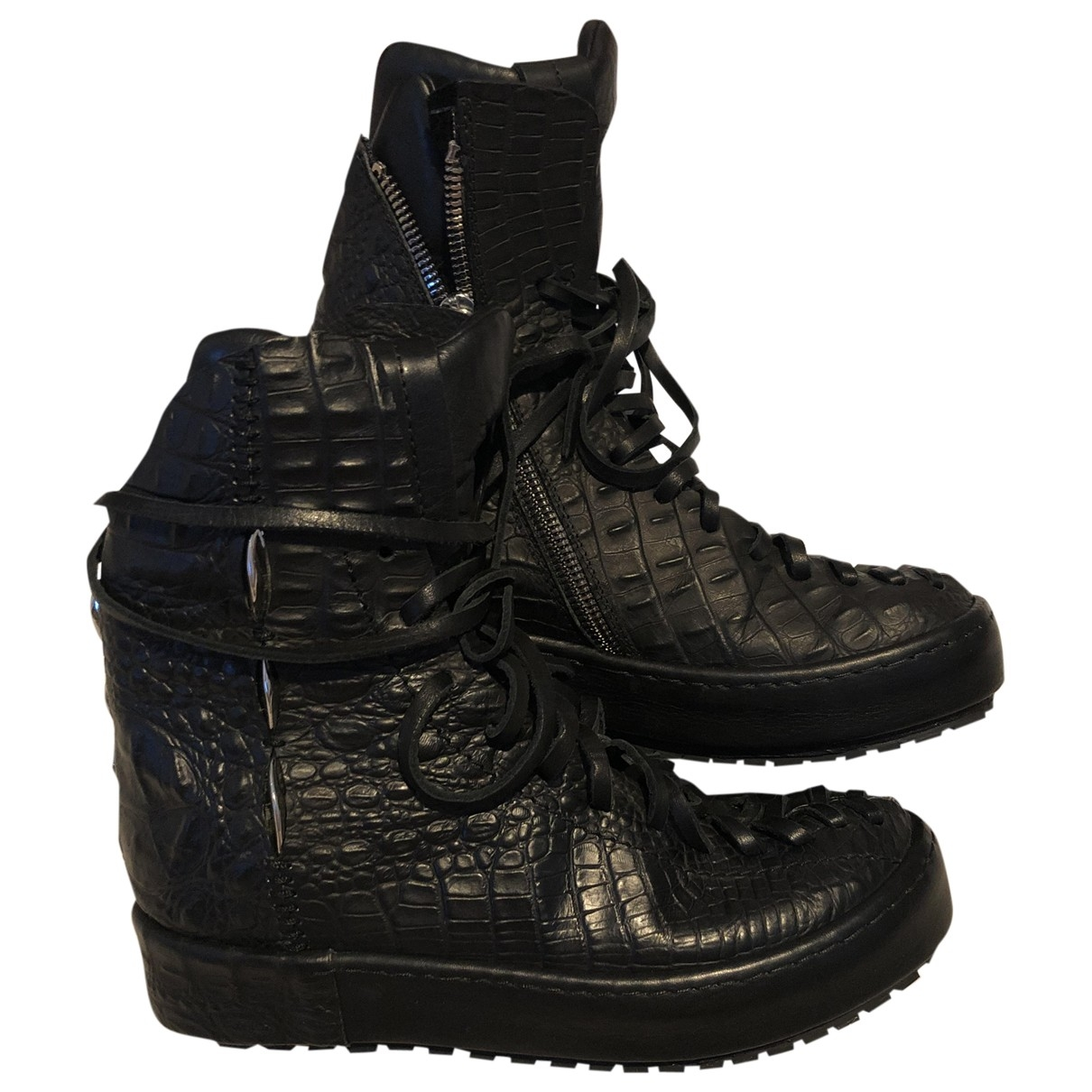 Artselab \N Stiefel in  Schwarz Leder