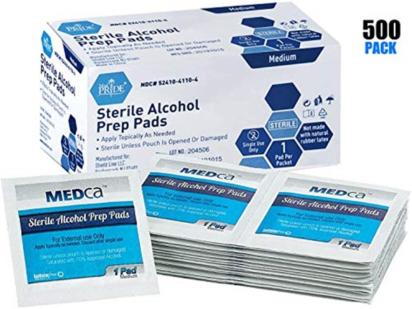Alcohol Wipes Sterile Alcohol Prep Pads