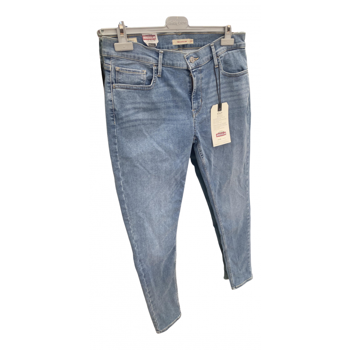 Levi's 710 Blue Cotton - elasthane Jeans for Women 31 US