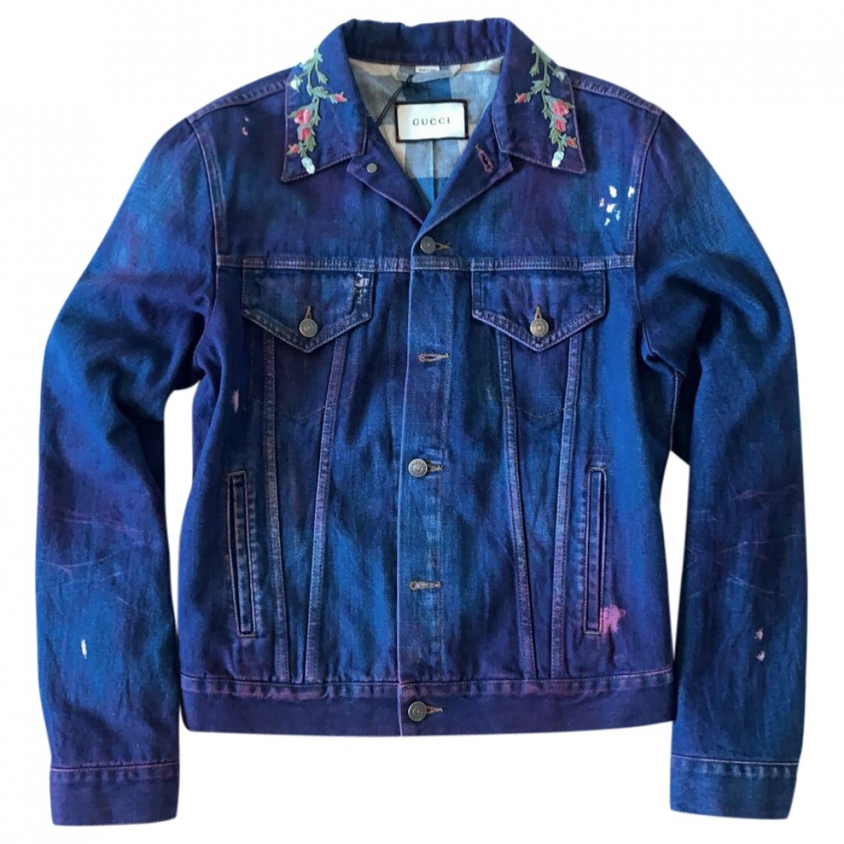 Gucci \N Jacke in  Lila Denim - Jeans