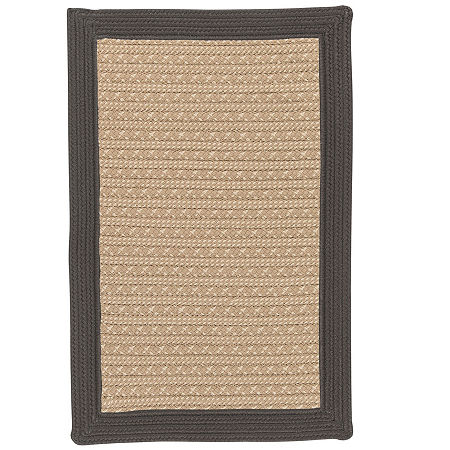 Colonial Mills Patriot Border Reversible Braided Rug, One Size , Gray